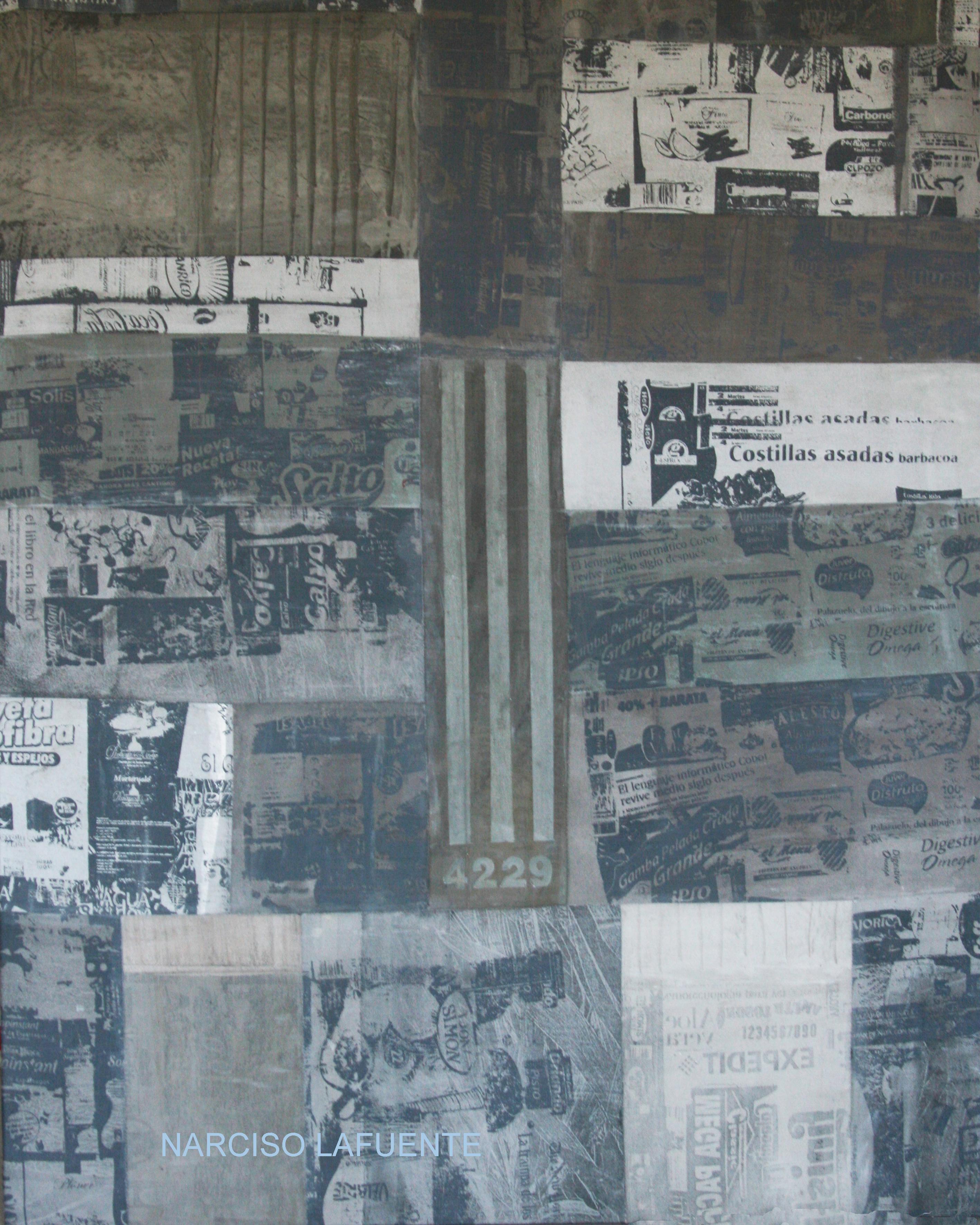 Obra relizada durante 2013 al 2015, técnica, serigrafía sobre lienzo pintado y cosido.